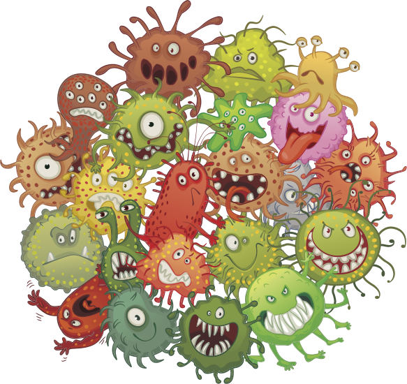 [Name: Funny bacteria cartoon styles vector 01 License: Creative Commons (Attribution 3.0) Categories: Vector Cartoon https://goo.gl/4J6tmt]