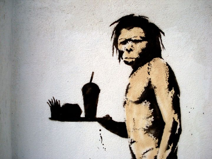 Banksy's caveman by Lord Jim | Creative Commons license https://goo.gl/eQyt6n