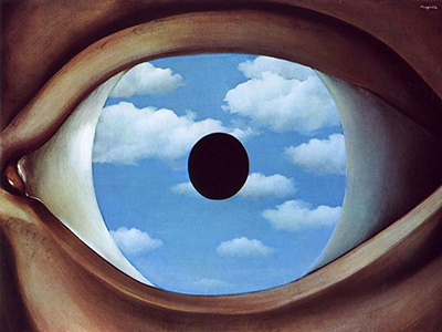 René Magritte, The False Mirror.